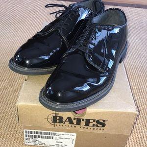 Bates Uniform Footwear Men's High Gloss Oxfords